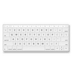 white keyboard object vector image