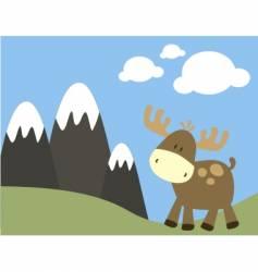 baby moose vector image
