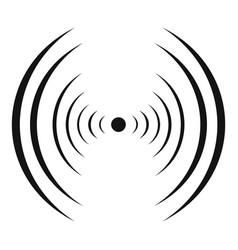 equalizer abstract icon simple black style vector image vector image