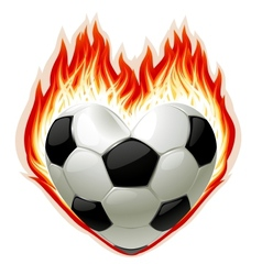 football on fire vector image vector image