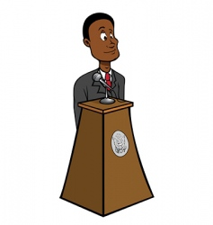 president black vector image vector image