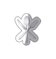 sticker set cutlery kitchen elements vector image vector image