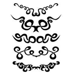 Tattoo tribal set vector