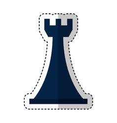 Tower chess piece isolated icon vector
