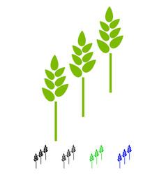 wheat plants flat icon vector image vector image