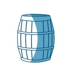 wine barrel wooden conatiner shadow vector image