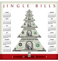 2014 christmas jingle calendar vector