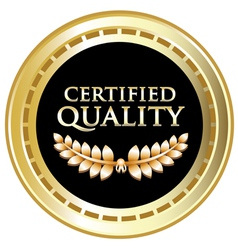 Certified Quality Black Label vector image vector image