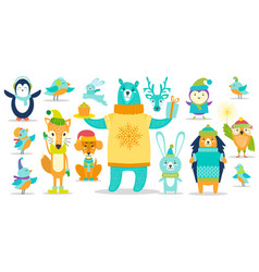 deer and dog other animals on vector image