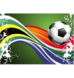 football poster with national flags vector image