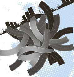 lump of roads vector image vector image