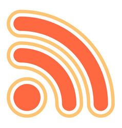 rss sign or wi-fi signal icon vector image vector image