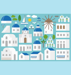 santorini elements constructor set vector image