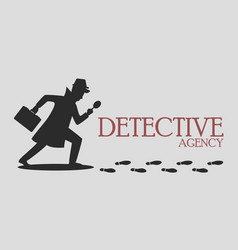 Silhouette of detective agency vector