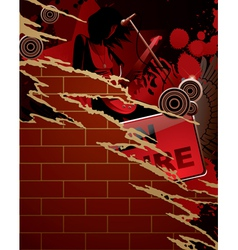 Torn musical poster vector image
