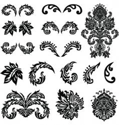 vector Victorian ornament set vector image vector image