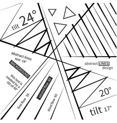 abstract linear design with various inscriptions vector image vector image