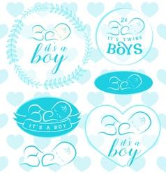 Baby Boy Badge Set vector image vector image