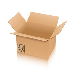 cardboard box isolated on white background vector image