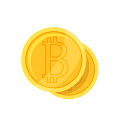 Crypto currency bitcoin flat style vector