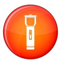 Pocket flashlight icon flat style vector