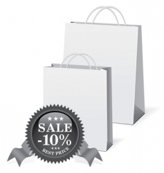shopping paper bags vector image vector image