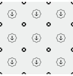 Anchor and lifebuoy pattern vector image vector image