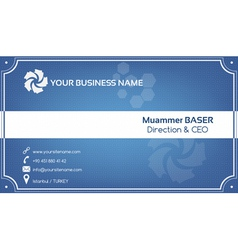 Creative blue business card vector image vector image