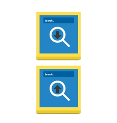 Download And Upload Icons 56 vector image vector image