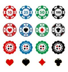 gambling chips 2 vector image