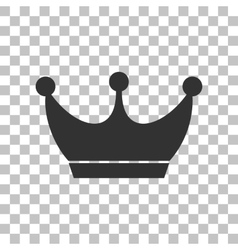 King crown sign Dark gray icon on transparent vector image