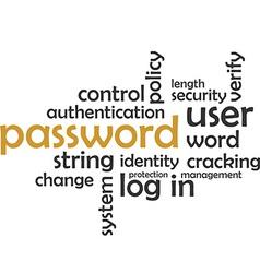 word cloud password vector image vector image