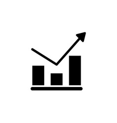 analytics finance chart graph growth icon signs vector image