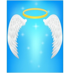 Angel wing vector image