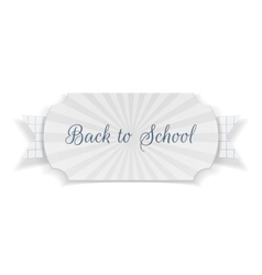 Back to School Text on Banner with Ribbon vector