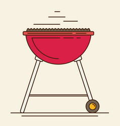 Barbecue flat style design vector