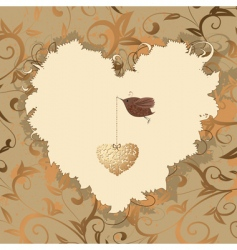 bird heart of gold vector image vector image