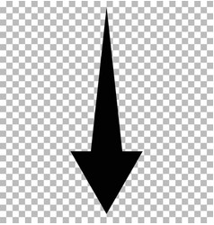 black down arrow on tramsparent down arrow vector image
