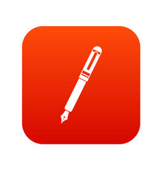 black fountain pen icon digital red vector image