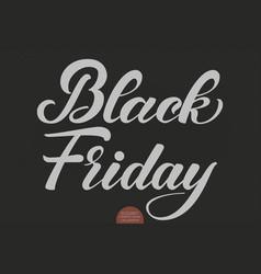 Black friday sale lettering elegant modern vector