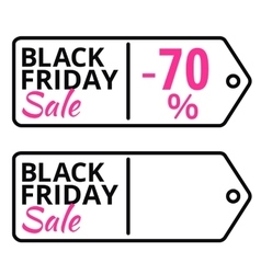 Black Friday sales line tag with text vector