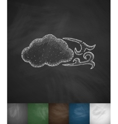 Blowing cloud icon vector