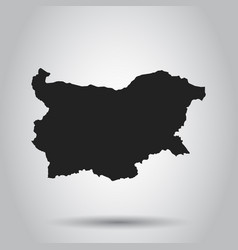 Bulgaria map black icon on white background vector
