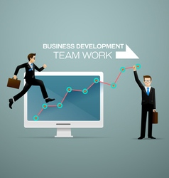 business development vector image
