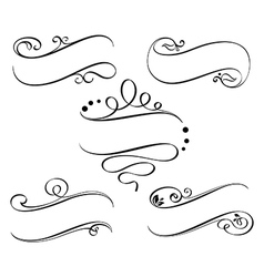 Calligraphic ribbons vector