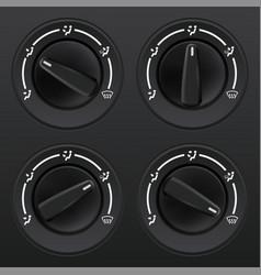 Car dashboard knob switch set auto air vector