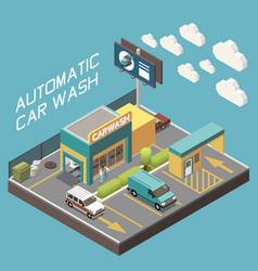 Car wash concept vector