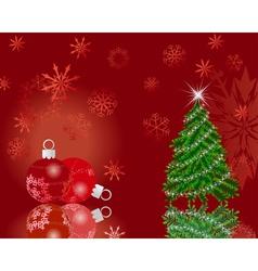 christmas new year card vector image