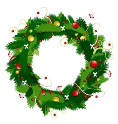 Christmas wreath for your design vector image