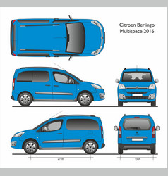 Citroen berlingo multispace 2016 combi van vector